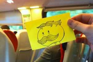 October Jones Shows That You Can Have Fun When Bored on a Train