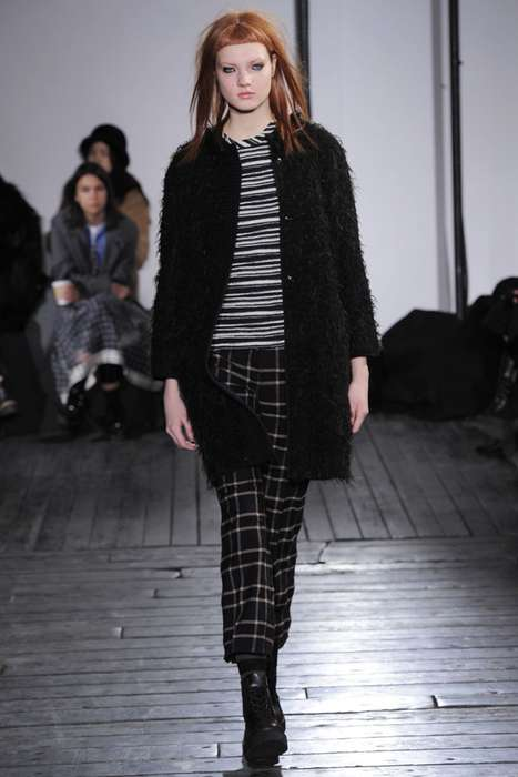 Refined Grungy Womenswear - The Hache Fall 2014 Looks Do a Grown-Up Version of Rock