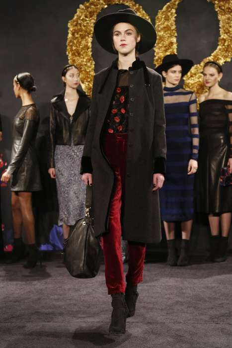 Darkly Romantic Fairy-Tale Fashion - Charlotte Ronson Fall 2014 Looks Were Inspired by an Old Book