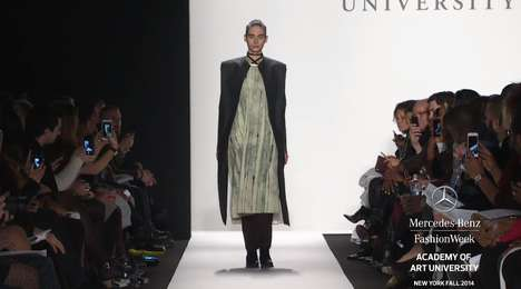Experimental Student Runways - The NYFW Academy of Art University 2014 Show Highlights New Talent