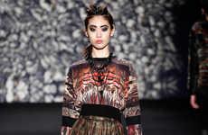 Earthy Warrior-Inspired Womenswear - The Nicole Miller Fall 2014 Looks Channel Princess Mononoke