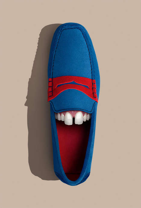 Grinning Anthropomorphic Shoes - The Running Gag Series Give Shoes Their Own Unique Smile