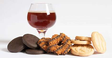 Innocent Alcohol Pairings - The Girl Scout Cookies Beer Pairings Seems Controversial & Contradicting