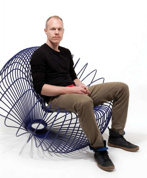 Circular Wireframe Seating - Radiolaria Garden Chair by Lukas Dahlen is Inspired by Sea Creatures