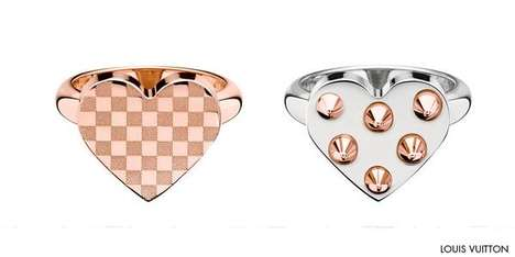 Stunning Spiky Romantic Rings - The Louis Vuitton Spiky Valentine Ring Set is Romantically Glamorous