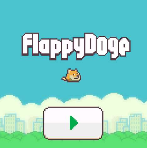 Addictive Avian App Parodies - Flappy Doge is a Replacement for the Flappy Bird Removed Game