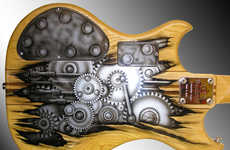 Customized Artistically Designed Guitars - These Artistic Guitars Make Making Music More Imaginative