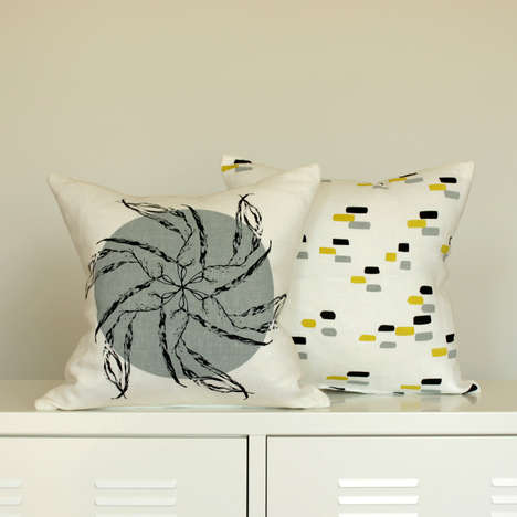 Bright Botanical Print Homewares - The New Line of Hand-Printed Textiles is Fresh and Earth-Friendly