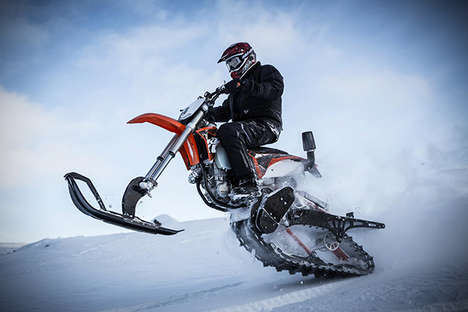 Transforming Dirt Bike Kits - This Pre-Assembled Kit Turns Your Dirt Bike into a Snowmobile