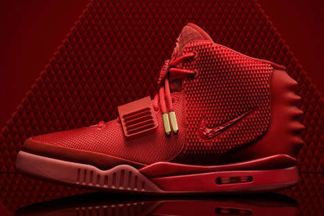 Fiercely Flashy Footwear - The Air Yeezy 2 Red Octobers Bring Intense Color to a Classic