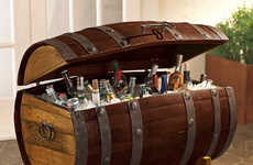 Pirate-Themed Liquor Chests