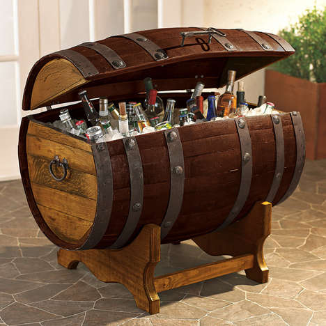 Pirate-Themed Liquor Chests - Keep Your Drinks Cool in the Tequila Barrel Ice Chest
