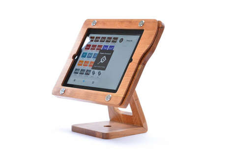 Wooden Monitor-Inspired Stands - The Freeform Wooden iPad Stand Fuses Form And Function Brilliantly