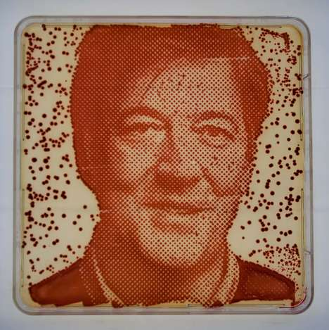 Bacteria-Grown Celebrity Portraits - This Science Art Project is Made from the Bacteria of Celebs