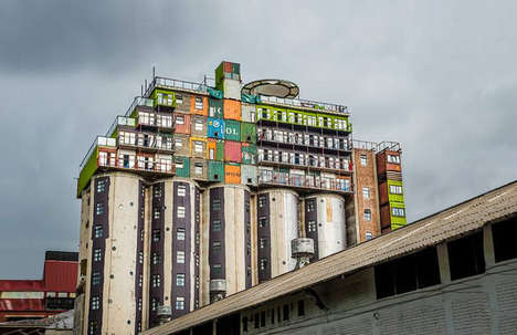 Massive Silo Clad Apartments - The Mill Junction Student Housing Uses Silos & Shipping Containers
