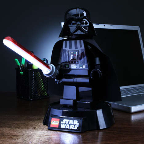 Villainous Mini-Lighting Sources - The LEGO Star Wars Darth Vader Desk Lamp Brightens Your Room