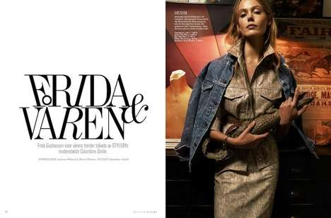 Subtly Artsy Editorials - The Styleby Magazine Issue 23 Photoshoot Stars Frida Gustavsson