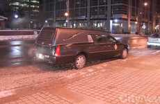 Morbid Driver Safety Campaigns - Toronto's Distracted Driving Campaign Comes from a Hearse