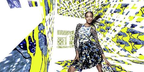 Clashing Print Fashion Ads - The Peter Pilotto for Target Campaign is Kaleidoscopic