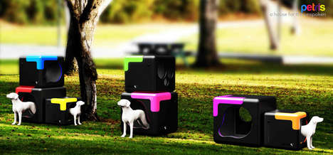 Geometric Dog Shelters - These Cute Dog Houses Give Canines a Place to Stay and Play in