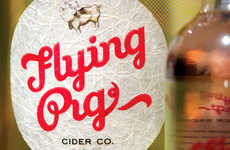 Playful Social Cider Branding - The Creative Branding Used for the Flying Pig Cider is Hip and Young