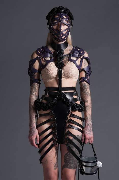 Domineering Leather Harness Collections - The Zana Bayne Leather 2014 Collection is Boldly Strappy