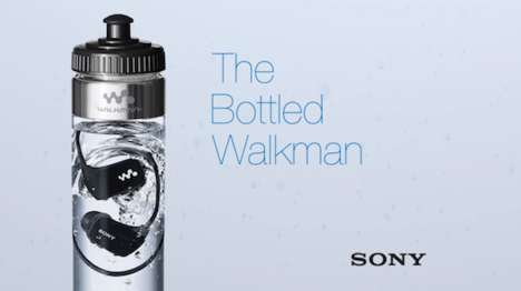 Waterproof Watter Bottle MP3s - Sony Packages Its New Waterproof MP3 Players in Water Bottles