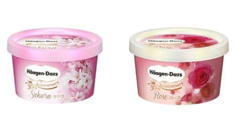 Flower-Flavored Ice Creams - Haagen-Dazs Blooms New Ice Cream Flavors to Celebrate 30 years in