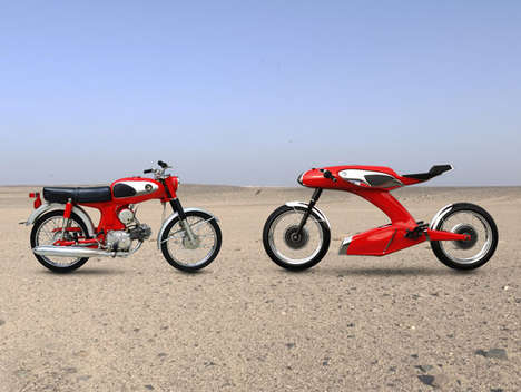 Retro-Futuristic Anniversary Bikes - The Honda Super 90 Concept Pays Tribute to the Iconic Super 90