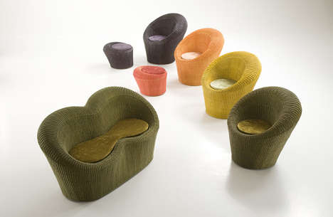 Colorfully Textured Seating - The Giada Collection by Dolcefarniente is Warm and Welcoming