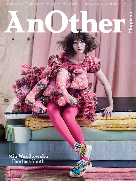 Youthfully Surreal Editorials - The AnOther Magazine S/S14 Cover Shoot Stars Mia Wasikowska