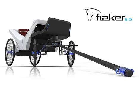 Poop-Catching Carriages - The Flaker 2.0 Has a Built-In Receptacle for Collecting Horses