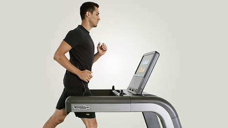 Tablet-Integrated Treadmills - The Technogym Unity Offers an Interactive Surface at Your Fingertips