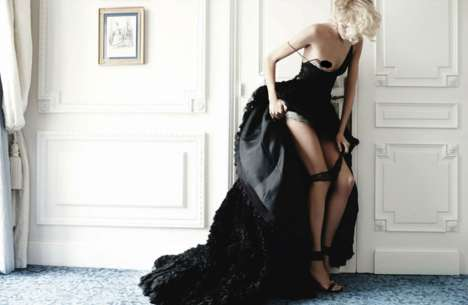 Carnal Couture Editorials - Mario Testino Captured Anja Rubik for Vogue Germany March 2014