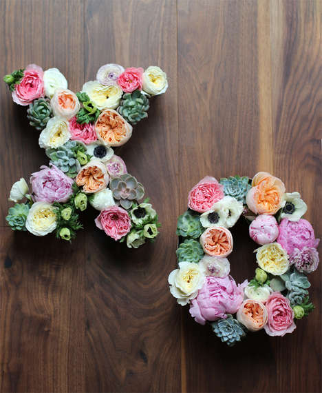 Fabulous Floral Letter Decor - This DIY Floral Lettering Decal is Superbly Sweet and Romantic