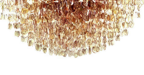 Found Object Chandeliers - Play by Stuart Haygarth Showcases Gorgeous Eco-Friendly Lighting