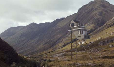 Hen House Dwellings - The Passive Roost House Would Be Perched on Spindly Legs in the Highlands