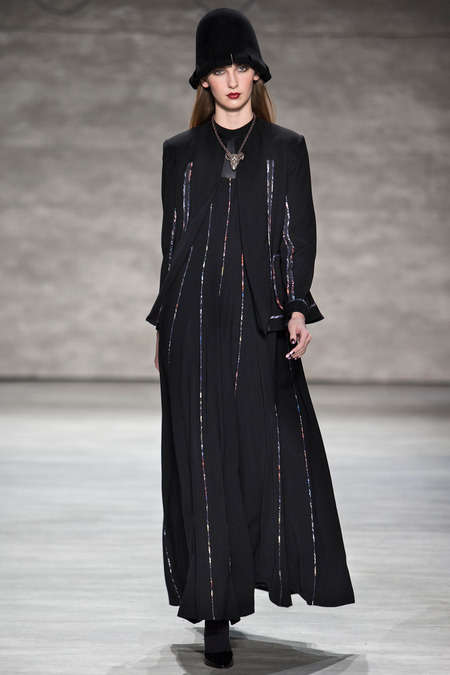 Ascetic-Inspired Womenswear - The Ruffian Fall 2014 Collection Has a Dark Monastic Tone