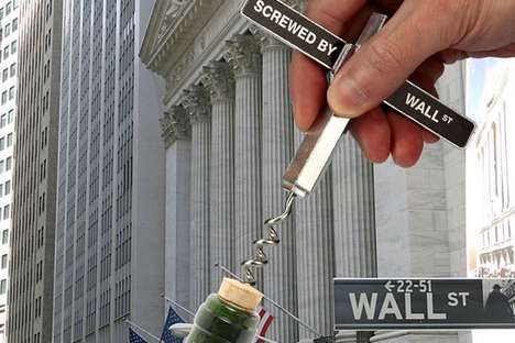 Business-Minded Corkscrews - This Wall Street Corkscrew Lets Users Vent a Little Frustration
