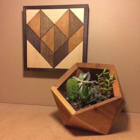 Nomadic Geometric Wood Decor - The Thomas Wayne Woodworks are Wizardly Shaped Masterpieces