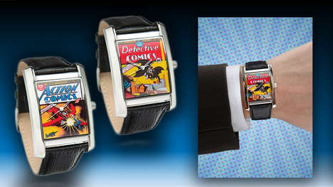 Retro Superhero Timepieces - These Comic Book Watches Celebrate the Golden Age of DC
