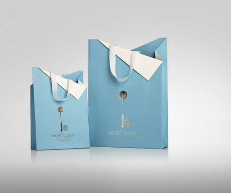 Exquisite Keyhole Packaging - Secret Location Branding Suggests the Idea of Exclusive Access