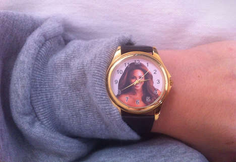Celebrity Image-Infused Wristwaches - The Beyonce Knowles Wristwatch is the Ultimate Fan Memorabilia