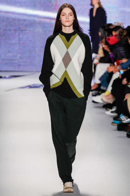 Simplified Sports Apparel - The Lacoste Fall 2014 Fashions Take Inspiration from the Golf Green