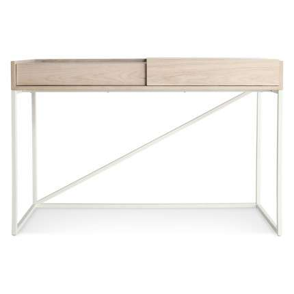 Transforming Minimalist Escritoires - The Swish Console Desk Has a Hidden Track to Conceal Clutter