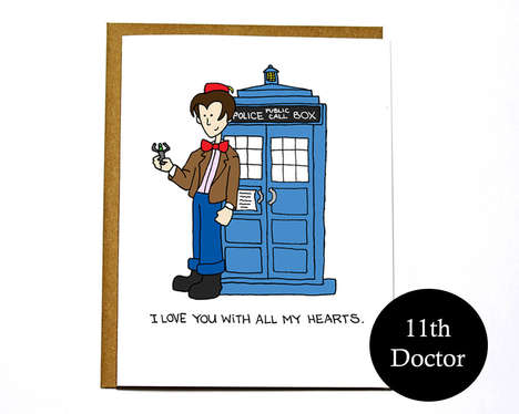 Geeky Alien Romance Cards - This Dr. Who Valentine From DarkroomandDearly Will Make Your Hearts Beat