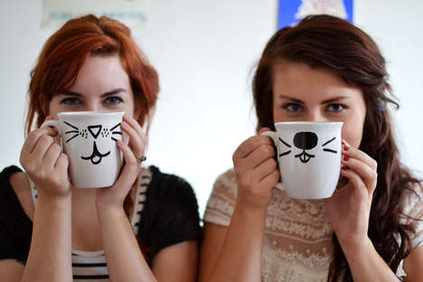 DIY Animal Mugs