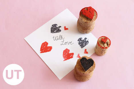 Loving Cork Stampers - These DIY Heart Stamps Make Any Cardstock Instantly Valentine