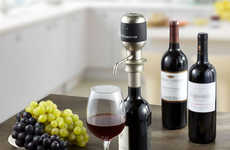Oxidizing Alcohol Taps - The Vinaera Electronic Wine Aerator Makes Your Beverage Breathe Faster