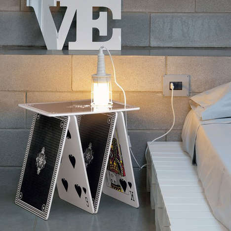 Magical Playing Card Tables - The A La Carte Side Table is a Magical Piece of Furniture